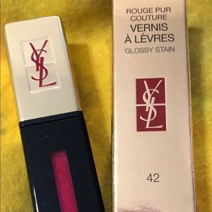 YSL ROUGE PUR  GLOSSY STAIN #42 fuchsia torride